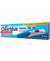 Clearblue Schwangerschaftstest mit Geschätzte Schwangerschaft Alter